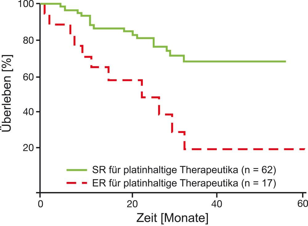 Korrelation von CTR-Test-Ergebnis und Überlebenszeit des Patienten (Holloway et al., 2002)