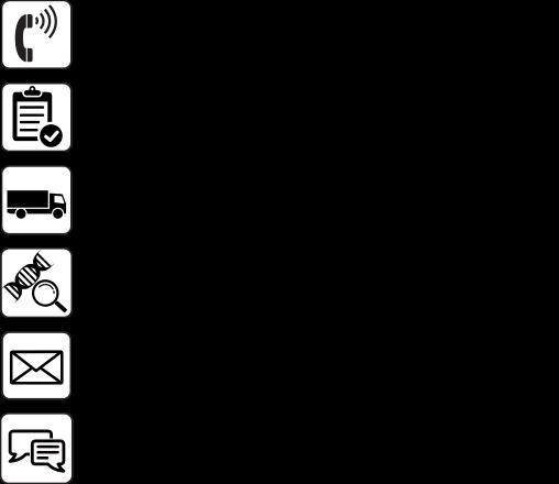 Abbildung über den Ablauf der Bestellung des Caris Molecular Intelligence® Service