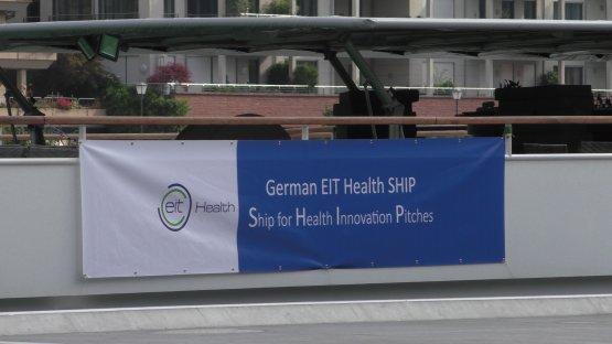 Banner der eit Health: German EIT Health SHIP Ship for Health Innovation Pitches.
