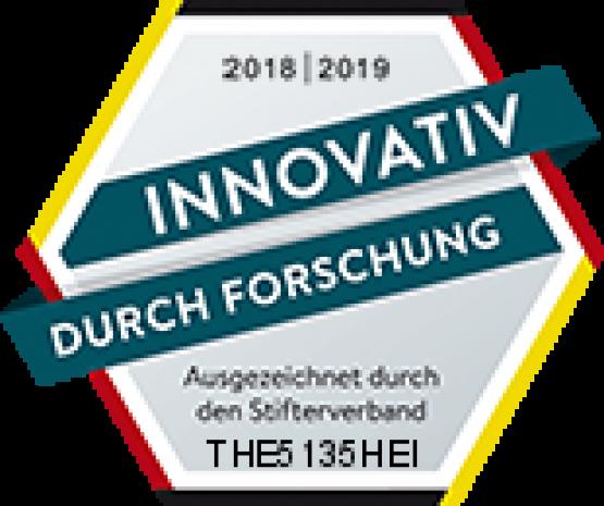 Auszeichnung vom Stifterverband für  innovative Forschung